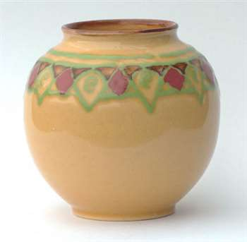Doulton brushlined vase by Lily Partington