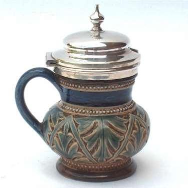 Doulton mustard pot by Ernest Bishop