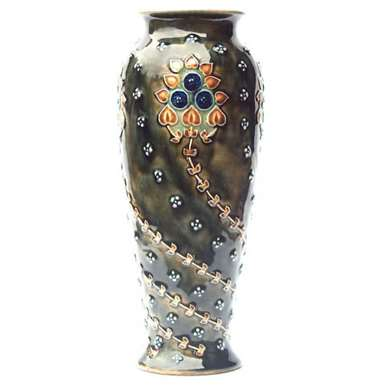 Doulton Lambeth vase by Eleanor Tosen