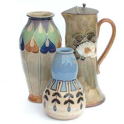 3 vases by Bessie Newbery