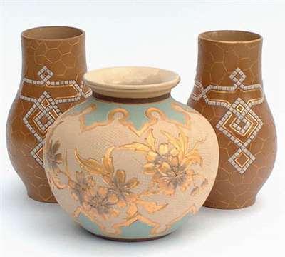 Three vases by Eliza Simmance