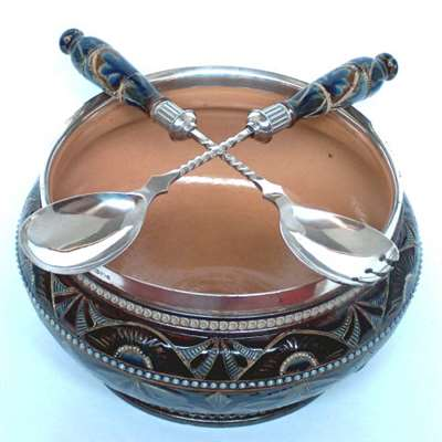 Doulton salad bowl by Florence E. Barlow