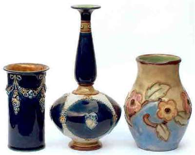 3 vases by Winnie Bowstead
