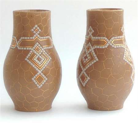 Pair of Doulton vases by Alice Russell